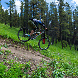 Steve Kovalenko riding 7-27 at Moose Mountain, Alberta Canada