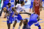 DESCRIZIONE : Milano Lega A 2014-15 EA7 Emporio Armani Milano vs Banco di Sardegna Sassari playoff Semifinale gara 7 <br /> GIOCATORE : Edgar Sosa Sanders Rakim Kenny Kadji<br /> CATEGORIA : esultanza postgame<br /> SQUADRA : Banco di Sardegna Sassari<br /> EVENTO : PlayOff Semifinale gara 7<br /> GARA : EA7 Emporio Armani Milano vs Banco di Sardegna SassariPlayOff Semifinale Gara 7<br /> DATA : 10/06/2015 <br /> SPORT : Pallacanestro <br /> AUTORE : Agenzia Ciamillo-Castoria/GiulioCiamillo<br /> Galleria : Lega Basket A 2014-2015 Fotonotizia : Milano Lega A 2014-15 EA7 Emporio Armani Milano vs Banco di Sardegna Sassari playoff Semifinale  gara 7 Predefinita :
