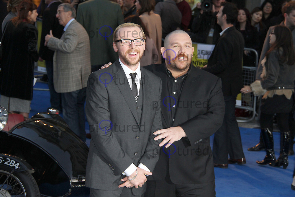 Simon Pegg; Nick Frost The Adventures of TinTin: The Secret of the Unicorn UK Premiere; Odeon West End Cinema, Leicester Square, London, UK. 23 October 2011.  Contact: Rich@Piqtured.com +44(0)7941 079620 (Picture by Richard Goldschmidt)