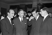 07/02/1963<br /> 02/07/1963<br /> 07 February 1963<br /> Brittain Dublin Ltd. Golden Jubilee reception and Dinner at the Hibernian Hotel, Dublin. Picture shows some of the attendees chatting after the meal.