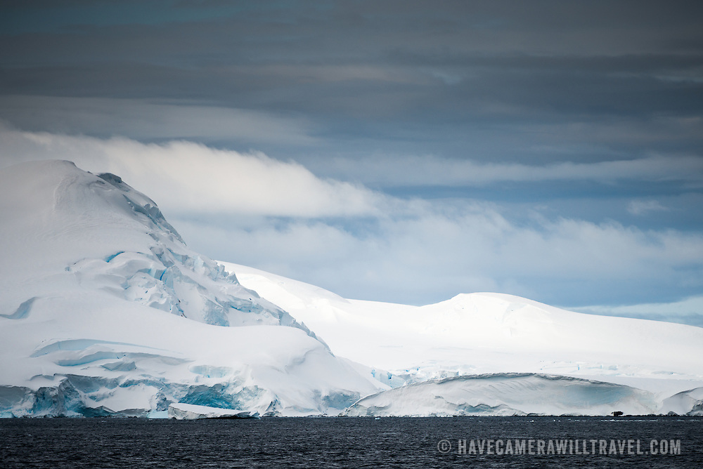 Some of the beautiful landscape and subtle tones of the landscape of Curtis Bay in Antarctica.