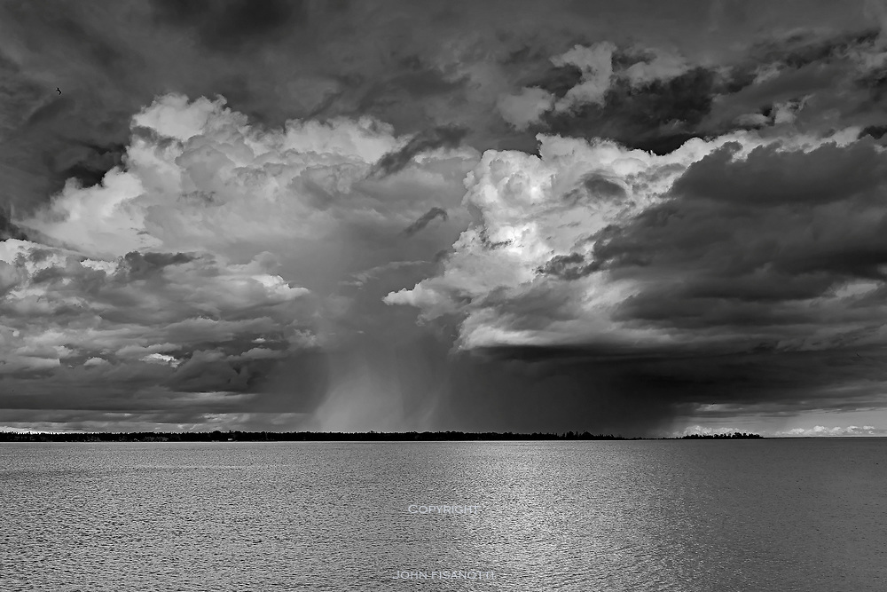 A Thunderstorm passes by Bailey's Harbor,  Wisconsin