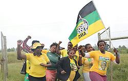 Bizano. Eastern Cape. 04.04.18. ANC supporters in the homestead of the late ANC struggle stalwart Winnie Madikizela-Mandela in Mbhongweni, Bizana. Picture Motswari Mofokeng/ African News Agency (ANA)