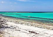 Kayakers explore along Bita Bay on Green Turtle Cay, Bahamas.