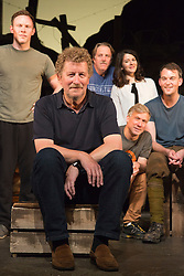 © Licensed to London News Pictures. 29/06/2015.  London, UK. Author Sebastian Faulks (centre) joins the Birdsong cast as he takes a role in the play at Richmond Theatre. Birdsong, adapted from the Sebastian Faulks novel by Rachel Wagstaff, is performed at Richmond Theatre until 4 July 2015 which finishes the UK tour. Photo credit: Bettina Strenske/LNP