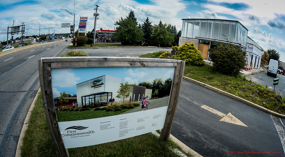 The building that housed MacDonald's Restaurant between Schadt Avenue and Eberhart Road is becoming a First Commonwealth Federal Credit Union. Picture made Sept. 9, 2019. Donna Fisher Photography, LLC