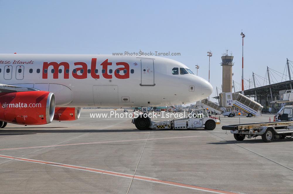 Air Malta, Airbus A320-200 At Ben Gurion international Airport, Tel Aviv, Israel (9H-AEN)