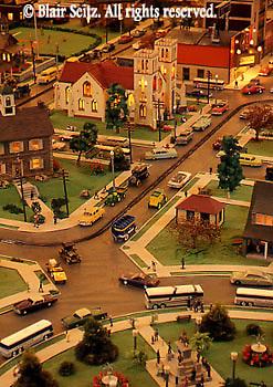 Roadside America, Mini-village resident scene, Shartlesville, Berks Co., PA