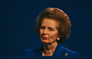 Margaret Thatcher returns to the Conservative conference a year after being deposed by her own party colleagues, Blackpool. Thatcher died on April 8th 2013 after suffering a stroke while staying in the Ritz Hotel, London.
