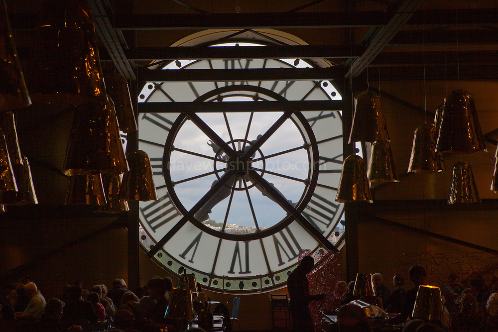Inside the clock at the Musee d'Orsay, Paris.