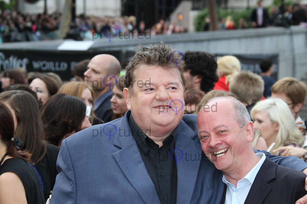 Robbie Coltrane; David Barron Harry Potter and the Deathly Hallows part 2 World Premiere, Trafalgar Square, London, UK, 07 July 2011:  Contact: Rich@Piqtured.com +44(0)7941 079620 (Picture by Richard Goldschmidt)
