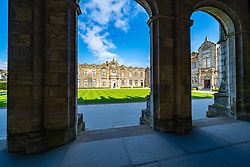 St Salvator's Quad at St Andrews University, St Andrews, Fife, Scotland, UK