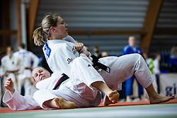 Anka Pogacnik vs Tina Pestotnik (red belt) during Judo National Championships 2021 in Balon Hall, Nova Gorica, 20 March 2021, Slovenia. Photo by Grega Valancic / Sportida