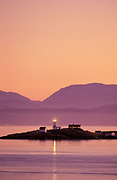 Merry Island Lighthouse, Halfmoon Bay, Sunshine Coast, British Columbia, Canada