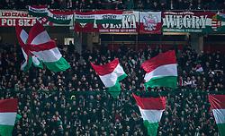 March 21, 2019 - Trnava, Slovakia - Hungarian fans during the Slovakia and Hungary European Qualifying match at Anton Malatinsky Arena on March 21, 2019 in Trnava, Slovakia. (Credit Image: © Robert Szaniszlo/NurPhoto via ZUMA Press)