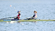 ]Hazewinkel, BELGIUM,  Women's Pair. GBR W2-. Bow [right], Helen GLOVER and Heather STANNING, in the opening strokes, British Rowing Senior Trails, Bloso Rowing Centre. Sunday,  11/04/2010. [Mandatory Credit. Peter Spurrier/Intersport Images]
