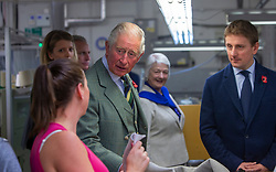 The Duke of Rothesay walks through the workspace, as he attended a reception in the workspace of the family owned and run business of Hawico, to celebrate British Industry in Hawick. Also present were local businesses from the initiative 'Famously Hawick'.