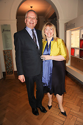 GEOFFREY MUNN and CATHERINE JOHNSTONE CEO of The Samaritans at a reception to launch the Chad Varah Appeal held at The Foundling Museum, 40 Brunswick Square, London on 11th May 2010.