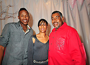 "New Orleans Sainst younger brother Jovan 18yrs old, and Mr. and Mrs. Bush walk the red carpet  at Kim 'sParty .Paparazzi get to close to comfort while trying to catch a photo of Saints running back Reggie Bush and girlfriend Kim Kardashian. After being a perfect gentleman an escorting everyone into the truck Kim finally tells everyone to ""Back UP"" .... Reggie is Playing on Sunday..New Orleans Saints RB #25 Reggie Bush escorts his girlfriend Kim Kardashian into their chauffered Cadilac Escalade , as the Paparazzi get to close  for comfort and upset him, after having his last meal out with his parents younger brother Jovan and kims mother and brother at Prime 112 on Ocean Drive in Miami before the Big Super Bowl on Sunday, tonight the team had a curfew so he could not attend Kim Super Bowl Bash Leather & Lace Super Bowl Party Friday night Feb 5,2010. Photo©Suzi Altman/SuziSnaps"