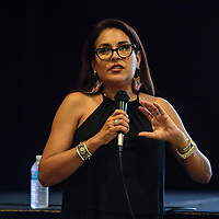 """Jhane Myers, a producer for """"Defending the Fire"""" a documentary screened Friday, August 3 as part of the Native Film Series at El Morro Theatre."""