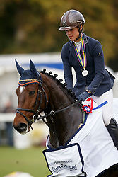 Blom Merel, (NED), The Quizmaster  <br /> 6 years old horses<br /> Mondial du Lion - Le Lion d'Angers 2015<br /> © Dirk Caremans<br /> 18/10/15
