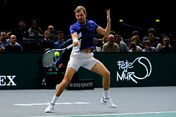 November 1, 2017 - Paris, France - The French player JULIEN BENNETEAU returns the ball to French player JO WILFRIED TSONGA during the tournament Rolex Paris Master at Paris AccorHotel Arena Stadium in Paris France.Julien Benneteau won 2-6 7-6 6-2 (Credit Image: © Pierre Stevenin via ZUMA Wire)