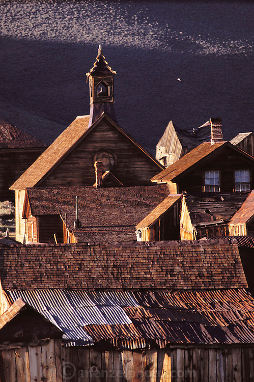Bodie, California - a ghost town - now a State historic park. Route 395: Eastern Sierra Nevada Mountains of California.