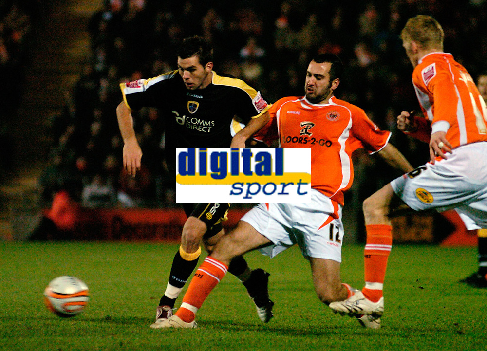 MATTHEW POVER PICTURE                                                +447971 184305<br /> <br /> 11/12/07 .... Blackpool v Cardiff<br /> Blackpool's Gary Taylor-Fletcher and Cardiff's Joe Ledley.
