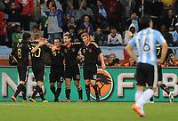 FOOTBALL - FIFA WORLD CUP 2010 - 1/4 FINAL - ARGENTINA v GERMANY - 3/07/2010 - JOY GERMANY AFTER THE 2ND KLOSE GOAL<br /> PHOTO FRANCK FAUGERE / DPPI