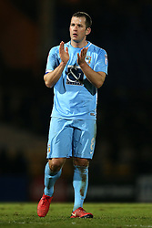 Coventry City's Michael Doyle applauds the travelling support