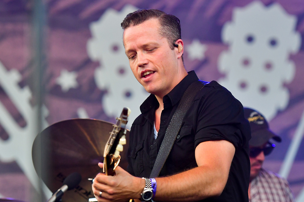 FRANKLIN, TN - SEPTEMBER 25: Jason Isbell and Amanda Shires perform onstage at the Pilgrimage Music & Cultural Festival - Day 2 on September 25, 2016 in Franklin, Tennessee. (Photo by Mickey Bernal/Getty Images)