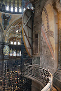detail Interior view of Hagia Sophia in Istanbul