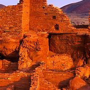Wupatki Ruin was built by the now vanished Ancestral Puebloans (Anasazi), Wupatki Ruins National Monument, AZ.