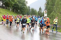 25.07.2015, Ortsteil Ködnitz, Kals, AUT, Grossglockner Ultra Trail, 50 km Berglauf, im Bild Start des 50 Km Lauf von Kals nach Kaprun // Start during the Grossglockner Ultra Trail 50 km Trail Run from Kals arround the Grossglockner to Kaprun. Kals, Austria on 2015/07/25. EXPA Pictures © 2015, PhotoCredit: EXPA/ Stringer