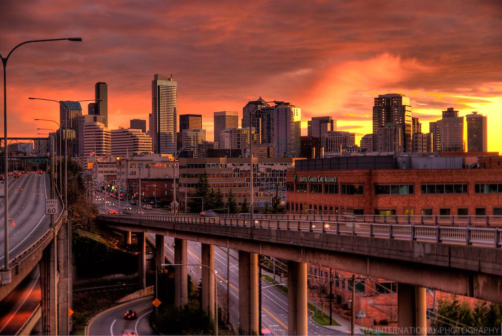 Autumn Sunset in Seattle