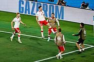 Robert Lewandowski of Poland celebrates his goal during the UEFA Euro 2020, Group E football match between Spain and Poland on June 19, 2021 at La Cartuja stadium in Seville, Spain - Photo Joaquin Corchero / Spain ProSportsImages / DPPI / ProSportsImages / DPPI