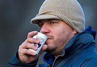 BLOEMENDAAL - 28-11-2010  Een geemotioneerde Bloemendaal coach Max Caldas nam zondag afscheid van Bloemendaal Hockeymannen . Caldas wordt bondscoach bij de dames van Oranje. COPYRIGHT KOEN SUYK