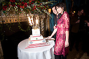 THE OWNER OF THE RESTAURANT  Irakli Sopromadze AND Daisy Lowe, Criterion Restaurant  celebrates its 135th anniversary. Piccadilly Circus. London. 2 February 2010