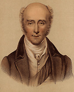 Charles Grey, 2nd Earl Grey (1764-1845) English Whig (Liberal) politician, known as Lord Howick (1806-1807). Foreign Secretary (1806-1807),  Prime Minister (1830-1834).  Tinted lithograph