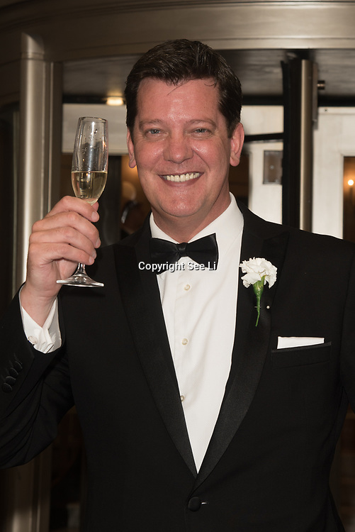 Sam Kane  attend the Rainbows Celebrity Charity Ball at Dorchester Hotel on June 1, 2018 in London, England.