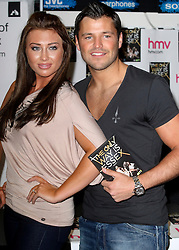 © under license to London News Pictures. 28/03/11.Lauren Goodger and  Mark Wright.  'The Only Way Is Essex' cast promote and sign copies of their new DVD at HMV in Lakeside mall. Essex, England. Photo credit should read Andy Barnes/LNP