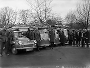 10/12/1960<br /> 12/10/1960<br /> 12 October 1960<br /> Irish T.V. Rental vans at Herbert Park, Ballsbridge, Dublin. The company were based on Grafton Street.