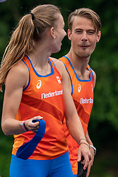 Jochem Dobber in action during the Press presentation of the olympic team Athletics on July 8, 2021 in Papendal Arnhem