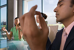 Dec. 05, 2012 - Meditation in a meeting (Credit Image: © Image Source/ZUMAPRESS.com)