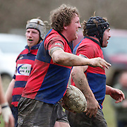 Ryan Dowling scores a try for Maniototo during the Otago Rugby Final between Maniototo and Arrowtown at Ranfurly, South Island, New Zealand, 9th June 2011