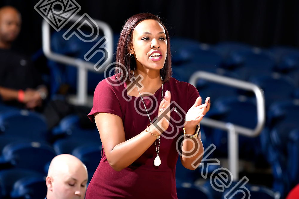 2018 January 13 - FIU's head coach Tiara Malcom. <br /> Florida International University Women's Basketball defeated Rice, 68-58, at Ocean Bank Convocation Center, Miami, Florida. (Photo by: Alex J. Hernandez / photobokeh.com) This image is copyright by PhotoBokeh.com and may not be reproduced or retransmitted without express written consent of PhotoBokeh.com. ©2018 PhotoBokeh.com - All Rights Reserved