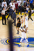 Golden State Warriors forward Kevin Durant (35) celebrates a basket against the Cleveland Cavaliers during Game 5 of the NBA Finals at Oracle Arena in Oakland, Calif., on June 12, 2017. (Stan Olszewski/Special to S.F. Examiner)