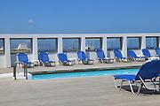 the swimming pool of a resort hotel Heraklion, Crete Island, Greece