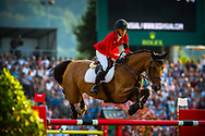 Laura KLAPHAKE (GER) riding Catch Me If You Can Old during the Nations Cup of the World Equestrian Festival, CHIO of Aachen 2018, on July 13th to 22th, 2018 at Aachen - Aix la Chapelle, Germany - Photo Christophe Bricot / ProSportsImages / DPPI
