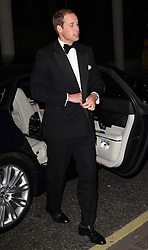 The Duke of Cambridge arriving at the Savoy hotel in London for a charity dinner in aid of the St.Giles Trust, Wednesday, October 17th 2012. Photo by: Stephen Lock / i-Images